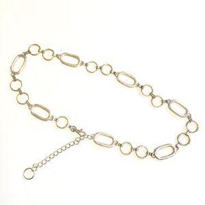Vintage 90s Silver Metal Chain Belt